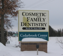 Cedarbrook sign from 210
